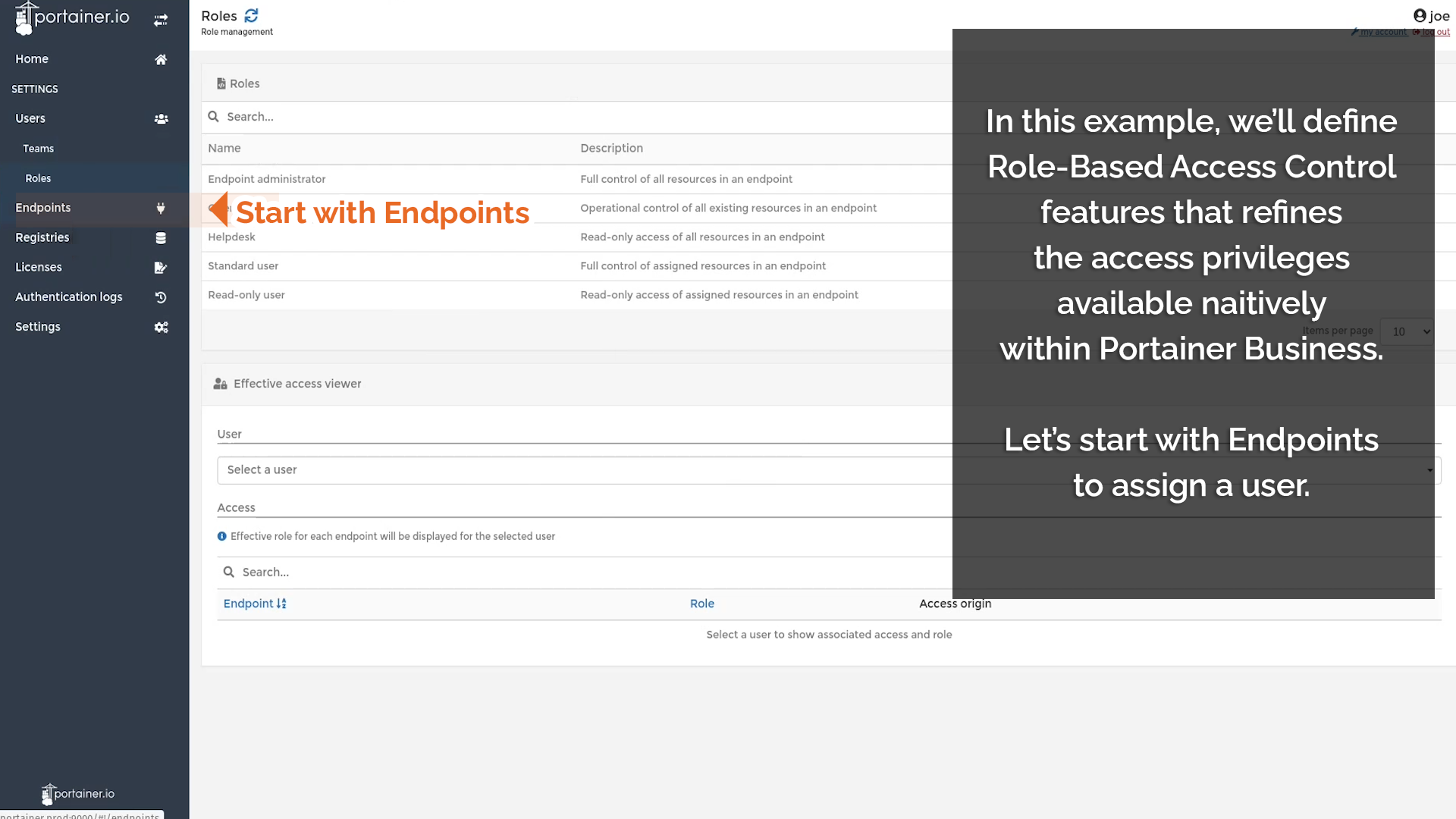 Start with Endpoints
