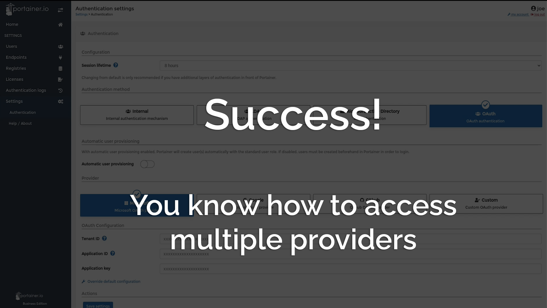 Success! You know how to access multiple providers